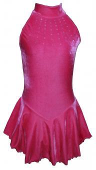 Kürkleid Pink mit Swarowski-Kristallen