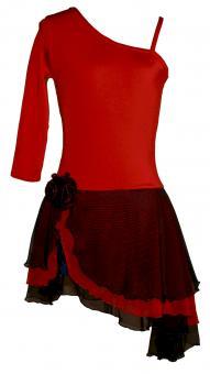 Kürkleid Tango Rot-Schwarz